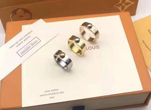 Горячие Продажи дизайнерские Кольца Из Нержавеющей Стали Роскошные 18 К Позолоченные Любители Кольца Мужчины Женщины Кольцо Из Розового Золота Ювелирные Изделия L кольца