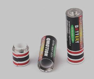 batería secreto escondite desvío píldora caja de almacenamiento de la hierba del tabaco tarro Ocultos dinero de contenedores de aleación de zinc Stash