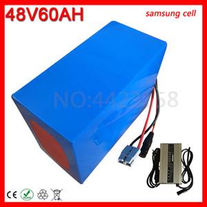 48V 60AH vélo électrique batterie utilisation Samsung portable Scooter 1500W 2000W 3000W Lithium Batterie + Chargeur