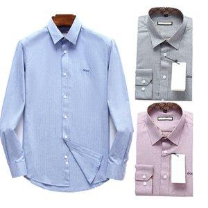 2020 Mens long sleeve shirt chemise luxury Mens Dress Shirts High Quality Business Polo Shirt Pony Embroidery Brand White Shirt Men Shirts