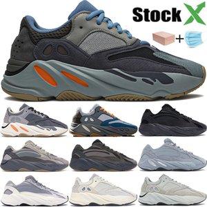 Kanye Wave Runner 700 aimant d'inertie hôpital bleu utilitaire noir 3M réfléchissant hommes femmes chaussures de sport vanta analogique statique hommes formateurs