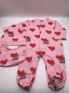 Nouveau-né Bab Jumpsuits brodé Enfants Garçons Filles Vêtements de bébé Chapeau Jumpsuit Romper Coton Enfants Marque Vêtements Livraison gratuite