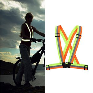 Warnweste Sicherheitsgurt für Nachtverkehrssicherheit elastischen Gurtband Nacht laufen reflektierende Kleidung Motorradsicherheit
