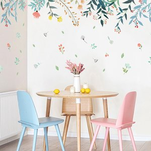 DIY Plant Reflection Home Decoration Art Wall Stickers per soggiorno Colorful Beautiful Removibile Adesivo De Parede