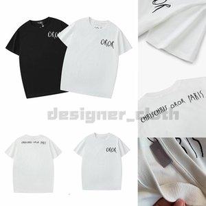 Cristiano mens de la manera informal camiseta para hombre del diseñador de la camiseta del hombre de la calle París Francia Pantalones cortos de la manga vestir camisetas asiática tamaño S-XXL