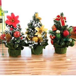 Tropfen Ornaments Mini Weihnachtsbaum Ornament Tabelle Festival-Feiertag Xmas Party Decor Geschenke Weihnachten Anhänger