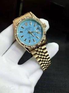 All'ingrosso uomini e donne pronti classico in acciaio inox calendario vestito diamante impermeabile uomini e le donne vigilanza delle coppie regalo di qualità orologio di buona