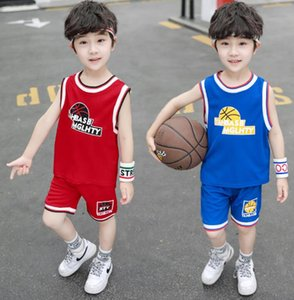 2020 new children's summer suit fashion boys' Sports Basketball wear children's wear foreign style boy's vest and shorts