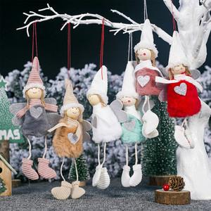 Decoración de Navidad colgante muñeca ángel muñeca de la felpa del árbol de navidad ornamento colgante de Navidad colgantes regalos de decoración niños de las muñecas