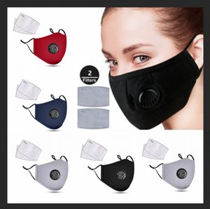 Reusable Face Masks Anti-Dust and Smoke Adjustable Reusable fabric cotton mouth Mask Protection with 2 Filters for Women Man pm2.5 dhl