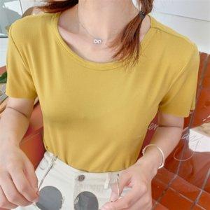 T-Shir Half Women 's Modal Rainbow Facial 대형 부드러운 여성 슬리브 의류 하프 마스크 크기 짧은 소매 셔츠 Twimv