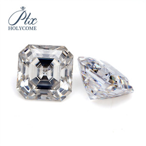 8*8MM 3ct hot sale VVS Clarity white Color asscher Cut Shape Loose Synthetic Moissanite for Jewelry Making