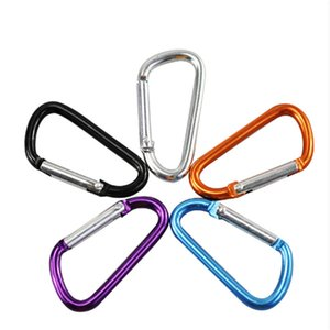 10 Pcs Climbing Accessories Outdoor Sports Colors Aluminium Alloy Buckle Keychain Climbing Carabiner Camping Hook