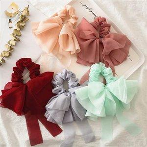 Ins fashion chiffon hair bows women hair scrunchies girls scrunchies hair accessories for women hairbands girls head bands B1415