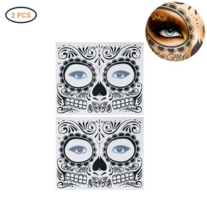 2PCS Halloween Face Tattoo Temporary Face Sticker Clothing Party Dress Up Tattoo Sticker Accessories