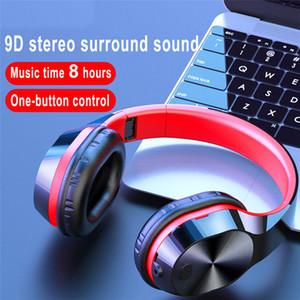 NOVO Fones de ouvido Bluetooth sem fio fone de ouvido Jogo Headset Super Bass com capacetes Microfone TF sem fio para PC Phone MP3