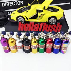 Design creativo NOS Turbo bottiglia di azoto Portachiavi in metallo Portachiavi Uomo Donna Regali Portachiavi Auto Portachiavi Bag Decorazione Mini portachiavi