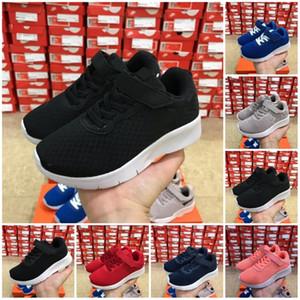 gros enfants London TANJUN Blanc Rouge Noir garçons filles Chaussures De Course Enfants Adulte Léger Sport Sneakers bébé cadeau d'anniversaire 24-35