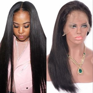 Malaysian Human Hair Full Lace Wigs Pre Plucked Lace Front Wigs with Baby Hair Straight Virgin Hair Glueless Wig