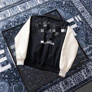 Milán Pista hombre abrigos de manga larga chaqueta de béisbol Limited colorblock de impresión de los hombres abrigos de diseño abrigos Marca mismo estilo chaquetas 4.20