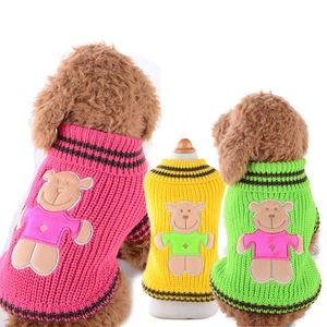 Rayado Navy Pet Dog Sweaters de Invierno Suave Cálido Suéteres para Perros Ropa para Perros Mascotas trajes de punto