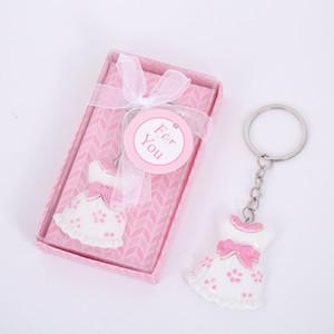 Neue Ankunft rosa Kleid Keychain Geschenk-Prinzessin Key Chains Wedding Babyparty-Bevorzugungs-Geschenke Keychains für Mädchen-Jungen