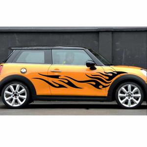 2PCS Tótem de llama Modificado Pull Flower Personalized Body Car Stickers Art BK Cover