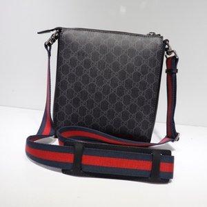 2020 Best All Stripe Rosso Nero In Pelle Uomo Message Bag Borsa Oro Lettera Hardware Borse A Spalla