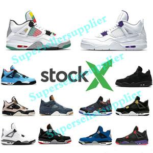 Nike air jordan 4s Retro Basketball Shoes что такое кактус Джек прохладный серый мужская баскетбольная обувь Concord Pure Money Royalty Мужские спортивные кроссовки