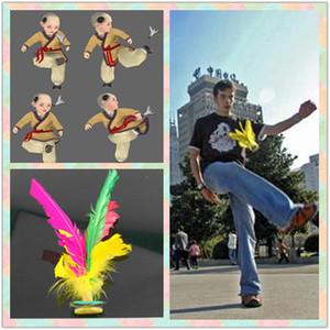 Marka Yeni Renkli Tüy Çin Jianzi Ayak Açık Spor Oyunları Için Spor Oyuncak Oyunu Tekme Kick Raketle