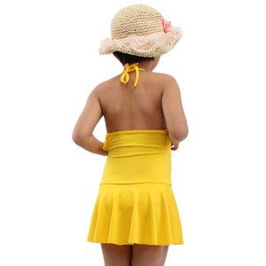 2020 Hot 6-10T Child Swimsuit Wrap Beach Wears Cute Girl Swimming Bath Suits Toddler Swim Suit Kids Swimwear Dropshipping