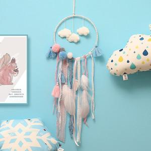 Flaky Clouds Dreamcatcher Feather Teenager Girl Catcher Netzwerk LED Dream Catcher Bettzimmer Hanging Ornament Neuheit Artikel CCA11744 50St