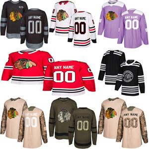 2019 Новости Чикаго Блэкхокс Хоккей Трикотажные Несколько стилей Mens Пользовательские любое имя Любой номер хоккея