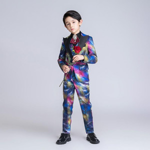 YuanLu Boys Suits For Wedding Piano Party Blazer Coat Formal Kids Suits Colorful Toddler Clothes