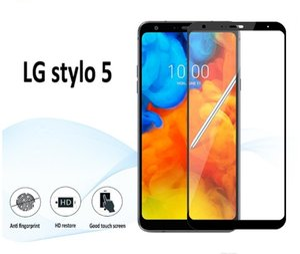 Pour LG STYLO 5 4 Aristo 3 Moto G7 Puissance Supra Metro Boost Edge Protecteur d'écran Résistant Aux Rayures Full Cover Verre trempé paquet de vente au détail