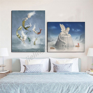 Nicolettas Ceccolies Artwork Poster Angel Beautiful Nightmares Picture Wall Art HD Prints Canvas Painting Background Home Decor
