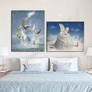 Nicolettas Ceccolies opera d'arte poster Angelo Bella incubi Galleria di Arte HD stampe su tela pittura Sfondo Home Decor