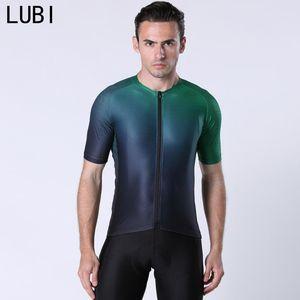 LUBI 2020 Men Summer Short Sleeve Cycling Jersey Pro Team Road Mountain Bike Clothing Racing MTB Bicycle Clothes Shirt Uniform