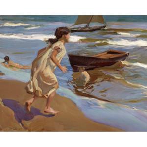 Пляжная живопись Час купания Хоакин Соролья и Бастида холст, масло Ручная роспись стены