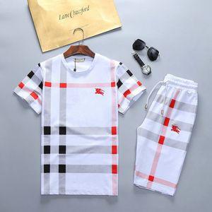 2019 novos homens terno de designer T-shirt e calças de algodão dos homens terno curto esporte verão das mulheres curto esporte terno 2 peças m-3xl # 04