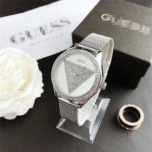 2020 New Fashion Style Montre Femme pleine diamant Lady acier chaîne luxe horloge à quartz Montre-bracelet haut créateur de mode de loisirs montre GUESS