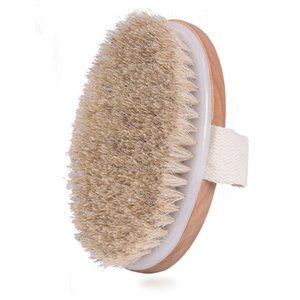 Dry Skin Body Brush Natural Bristle Remove Dead Skin and Toxins,Cellulite Treatment,Improves Lymphatic Functions,Exfoliates,Stimulates Blood