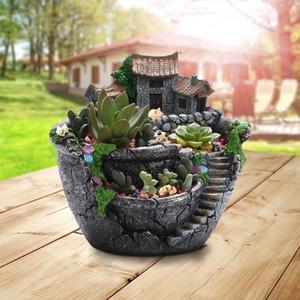 منزل الديكور الراتنج وعاء زهرة وعاء نبات عصاري الغراس لا نبات 18x16x17 سنتيمتر
