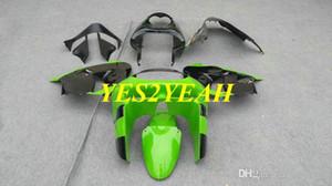 Обтекатель мотоцикла для KAWASAKI Ninja ZX-9R ZX9R ZX 9R 98 99 ZX9R 1998 1999 Зеленый черный обтекатель комплект + подарки KC09