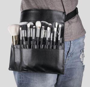 Nouveau mode pinceau de maquillage Support à 22 poches Sangle de ceinture noire Sac de taille Salon Maquilleur brosse cosmétiques Organisateur
