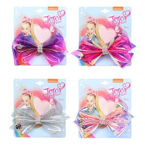 Vendita calda 5inch PVC jojo Siwa ragazze fermagli per capelli cristallino jojo Siwa bambini mollette rainbow baby BB bambini della clip accessori per capelli A9353