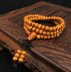 108  8mm Natural Sandalwood Buddhist Buddha Wood Prayer Bead Mala Men bracelet Unisex bracelets & bangles pulseras bijoux