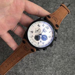Marke Herrenmode Uhren Herren Lederarmband Sport-wasserdichter Quarz-Uhr-Mann voller Stahl Militär Uhr Armbanduhr Relogio Masculino