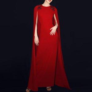 2020 yeni şık pelerin gece elbisesi mizaç güzel büyük kırmızı güzellik yarışmasında haute couture arkadaşlar parti kokteyl elbisesi