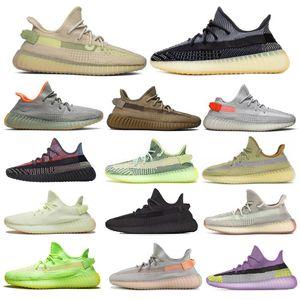 2020 Kanye West Asriel'den cüruf Keten Oreo İsrafil Kuyruk Işık Zyon Yechei Siyah Statik 3m Erkekler Yansıtıcı Kutusu ile Koşu Ayakkabıları